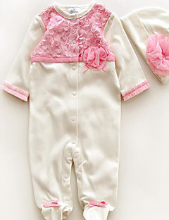 Girl's Casual/Daily Print Overall & Jumpsuit,Cotton Winter / Spring / Fall Pink / Beige