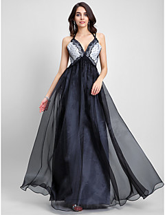 TS Couture Prom / Formal Evening Dress - Celebrity Style A-line Spaghetti Straps Floor-length Organza with Lace