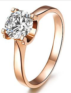 指輪 ファッション / 誕生石です. 結婚式 ジュエリー 純銀製 / ラインストーン 女性 バンドリング 1個,5 / 6 / 7 / 8 / 9 / 8½ / 9½ / 4 ローズゴールド