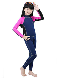 Sports Kid's Diving Suits Diving Suit Compression Wetsuits 2.5 to 2.9 mm Green / Pink / Blue XS / S / M / L / XL Diving