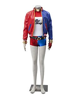 Cosplay-Asut Supersankarit Elokuva Cosplay Punainen / Sininen Patchwork Takki / Toppi / Lisää tarvikkeita / ShortsitHalloween / Joulu /