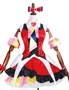 קיבל השראה מ Macross Frontier אחרים אנימה תחפושות Cosplay חליפות קוספליי / שמלות דפוס / טלאיםשמלה / קשר / שרוולים / שמלה תחתית / גרביונים