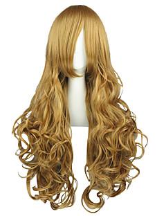Cosplay Wigs Code Gease Nunnally.vi.Britainia Brown Long Anime Cosplay Wigs 90 CM Heat Resistant Fiber Male / Female
