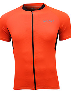 SPAKCT® Cycling Jersey Men's Short Sleeve Bike Breathable / Quick Dry / Reflective Trim/Fluorescence Tops 100% Polyester Classic / Sports
