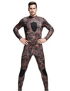 SBART Men's Wetsuits Diving Suit Breathable / Ultraviolet Resistant / Compression Wetsuits 3.5 to 5.4 mm Brown