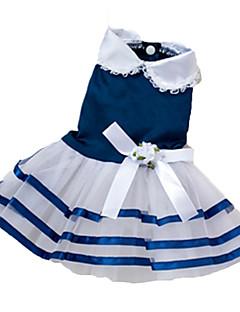 개 드레스 레드 / 블루 / 핑크 강아지 의류 여름 리본매듭