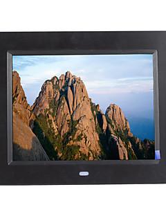8 inch digitális képkeret 800 * 600 USB 2.0 óra / zene&filmlejátszás támogatás 14 ország nyelvén
