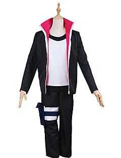Inspired by Naruto Naruto Uzumaki Anime Cosplay Costumes Cosplay Suits Solid BlackCoat / Top / Pants / Headpiece / Legguards / More