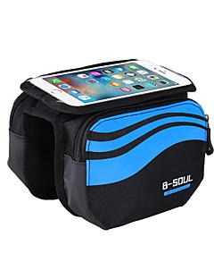 B-SOUL® Saco da bicicletaBolsa para Quadro de Bicicleta / Bolsa CelularCamurça de Vaca á Prova-de-Choque / Touch Screen / Suporte iPhone