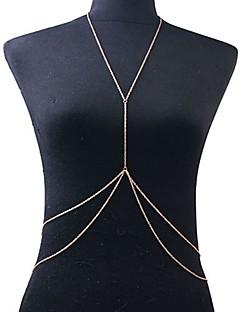 Γυναικεία Κοσμήματα Σώματος Αλυσίδα για την Κοιλιά Ιμάντες κολιέ Body Αλυσίδα / κοιλιά Αλυσίδα Μπικίνι Ευρωπαϊκό crossover Διπλή στρώση