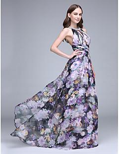 2017 לנטינג bride® שמלת השושבינה לטאטא / מברשת רכבת שיפון - קולר עם קריסטל המפרט