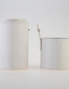 Smikkészlet tárolás Szépségápolási táska / Smikkészlet tárolás Egyszínű 8cm*8cm*19cm Ivory