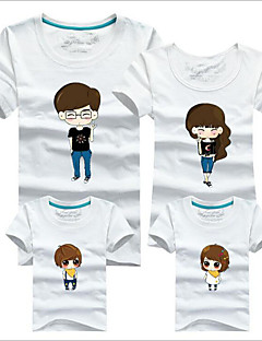 Short Sleeve Cotton Family Clothing Sets,Summer / Spring / Fall Tee