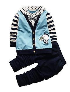 Boy's Casual/Daily Print Clothing Set,Cotton Fall Blue / Orange / Purple