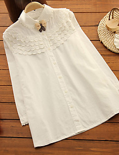 Maternity Shirt Collar Blouse,Cotton Long Sleeve