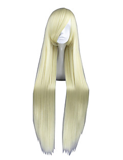 Cosplay Wigs Cosplay Chii Yellow Long Anime Cosplay Wigs 100 CM Heat Resistant Fiber Male / Female