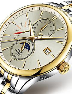 Herren Sportuhr / Modeuhr / Mechanische Uhr Automatikaufzug Nachts leuchtend / Mond Phase Edelstahl Band Cool / Bequem Weiß / Gold Marke