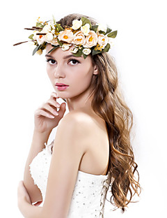 Women's Polyester / Fabric Headpiece-Wedding / Special Occasion / Outdoor Handmade Flowers Birdal Wreaths 1 Piece