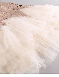 Dívka je Běžné/Denní Květinový Léto Šaty Umělá kožešina / Umělé hedvábí Béžová