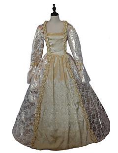 Jednodílné/Šaty Gothic Lolita Steampunk® / Viktoria Tarzı Cosplay Lolita šaty Zlatá Květinový Dlouhé rukávy Long Length Šaty Pro Dámské