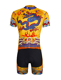 ILPALADINO Cycling Jersey with Shorts Men's Unisex Short Sleeve Bike Jersey Shorts Clothing SuitsQuick Dry Ultraviolet Resistant