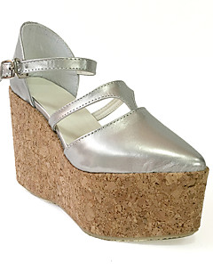 New Punk Lolita 10 Silver Wedge Lolita Wedges Women's Weather Shoes