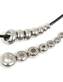 130pcs beadia (misto 7 tamanhos) esferas de aço inoxidável espaçadores para fazer jóias