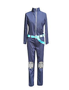 Inspired by One Piece Kenji Yamaguchi Anime Cosplay Costumes Cosplay Suits Solid Blue Long Sleeve Top / Pants / Gloves / Waist Accessory