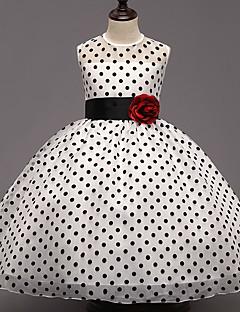 Dívka je Polyester Jdeme ven Puntíky Léto Šaty,Bez rukávů