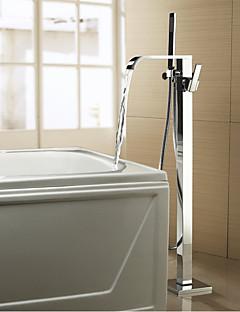 Zeitgenössisch / Art déco/Retro / Modern Badewanne & DuscheWasserfall / Breite spary / Handdusche inklusive / Bodenstand / Mit
