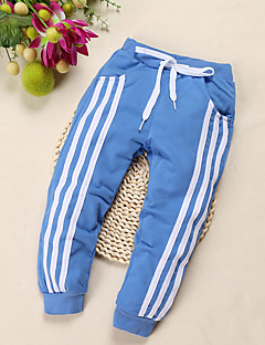 Boy's Casual/Daily Striped Pants,Cotton Summer / Spring / Fall Black / Blue / Red / White