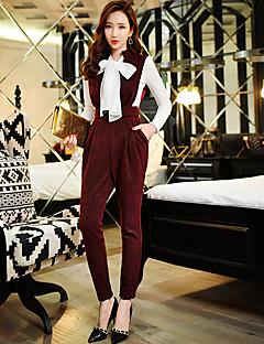 dabuwawa kvinners solide slanke bukser, vintage / street chic / sofistikert
