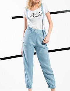 ARNE® Kadın Yüksek Bel Kotlar Kahverengi Günlük Pantolon-6235