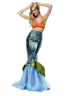Cosplay Costumes Party Costume Mermaid Tail Fairytale Festival/Holiday Halloween Costumes Blue Vintage Dress Halloween Christmas Carnival