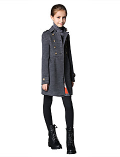 Girl's Casual/Daily Solid Blouse / Down / Blazer / Coat,Cotton / Polyester / SpandexWinter / Spring /