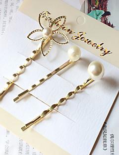 3-pakning perle blomst hårnåler klippet håret smykker