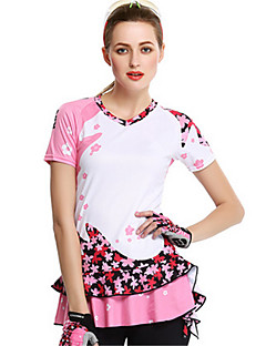 Sports Cycling Skirt Women's Short Sleeve Bike Breathable / Comfortable / Sunscreen Jersey Spandex / Silk Classic SummerExercise &