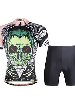PALADIN® חולצת ג'רסי ומכנס קצר לרכיבה לגברים שרוול קצר אופנייםנושם / ייבוש מהיר / עמיד אולטרה סגול / דחיסה / חומרים קלים / 3D לוח /