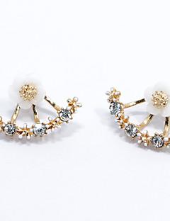 Жен. Серьги-гвоздики Мода Простой стиль бижутерия Стерлинговое серебро В форме цветка маргаритка Бижутерия Назначение Свадьба Для