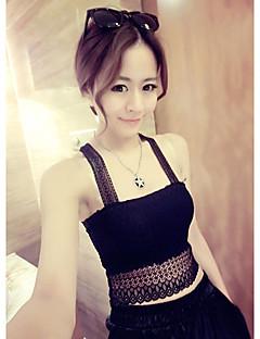 Women's Casual/Daily Cute Spring / Summer Tank Top,Solid Deep U Sleeveless White / Black Modal Thin