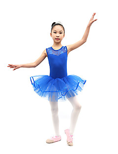 Ballet Dresses Children's Training Cotton Pleated 1 Piece Sleeveless Natural Dress