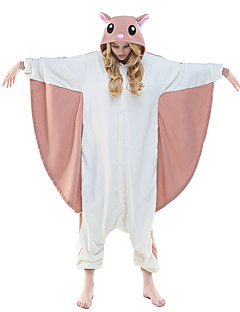 Kigurumi Pyjamas Trikot/Heldragtskostumer Festival/Højtider Nattøj Med Dyr Halloween Lyserød Dyremønster Polarfleece Kigurumi Til Unisex