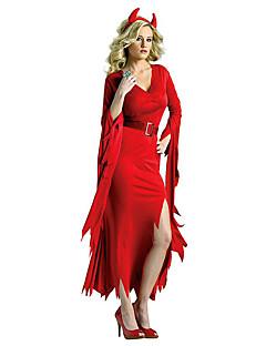 תחפושות קוספליי נשף מסכות תחפושת למסיבה רוח זומבי ערפדים פיראט פסטיבל/חג תחפושות ליל כל הקדושים אדום שחור וינטאג' שמלה חגורה לבוש ראש