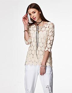 heart Soul® Dame Rund hals 1/2 Længde Sleeve T Shirt Ivory / Hvid-PRE-11414