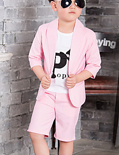 Boy's Formal Solid Suit & Blazer / Clothing Set,Cotton Summer Blue / Pink / Beige