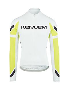 KEIYUEM Camisa para Ciclismo Mulheres Homens Unissexo Manga Comprida Moto BlusasProva-de-Água Secagem Rápida Design Anatômico Á