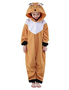 Kigurumi Pajamas New Cosplay® / Fox Leotard/Onesie Halloween Animal Sleepwear Brown Solid Polar Fleece Kigurumi KidHalloween / Christmas