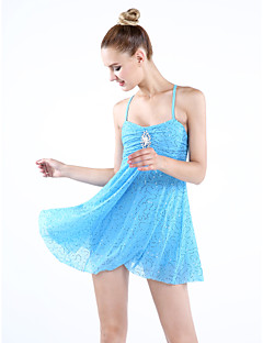 Ballet Dancewear Adults' Children's Sequined Dropping Ruffles Lyrical Dress (More Colours)