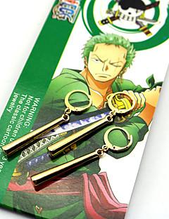 Schmuck Inspiriert von One Piece Roronoa Zoro Anime Cosplay Accessoires Ohrringe Gold ABS / Legierung Mann / Frau