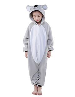 Kigurumi Pajamas New Cosplay® / Koala Leotard/Onesie Halloween Animal Sleepwear Gray Patchwork Polar Fleece Kigurumi KidHalloween /
